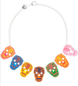 Tatty Devine's Sugar Skull necklace