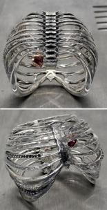 Juxtapoz Ribcage Ring